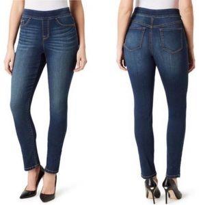 Nine West Heidi Pull On Skinny Jeans medium wash 6